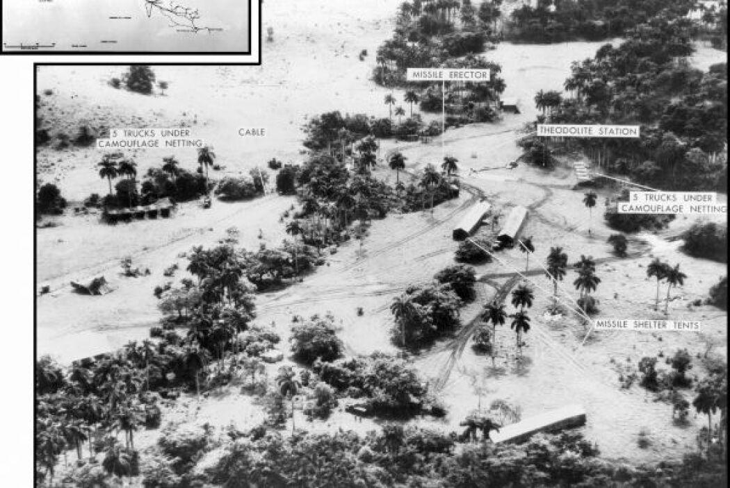 Vista aérea tomada el 23 de octubre de 1962 de una de las bases de cohetes.