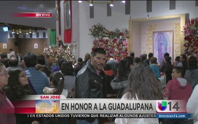Rinden tributo a la Guadalupana en San José