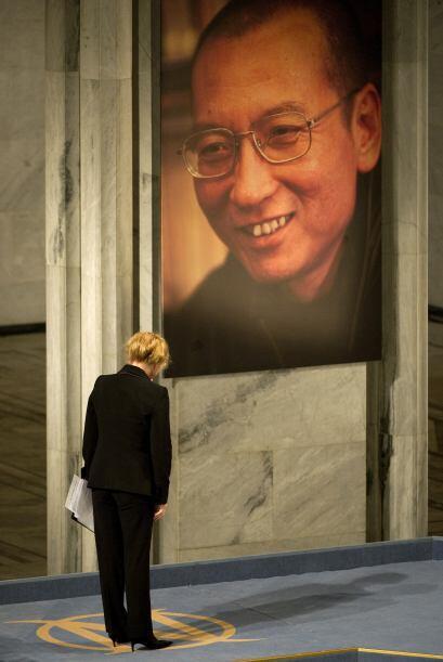 El gran ausente fue el disidente chino Liu Xiaobo, quien fue desautoriza...