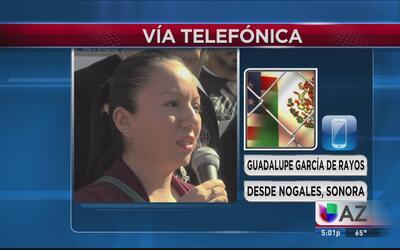 """""""Me custodiaron como si fuera una criminal"""": Guadalupe García, madre dep..."""