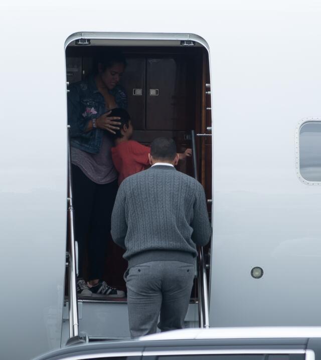 Y así fue Jennifer López y Alex Rodríguez pusieron fin a una visita de c...