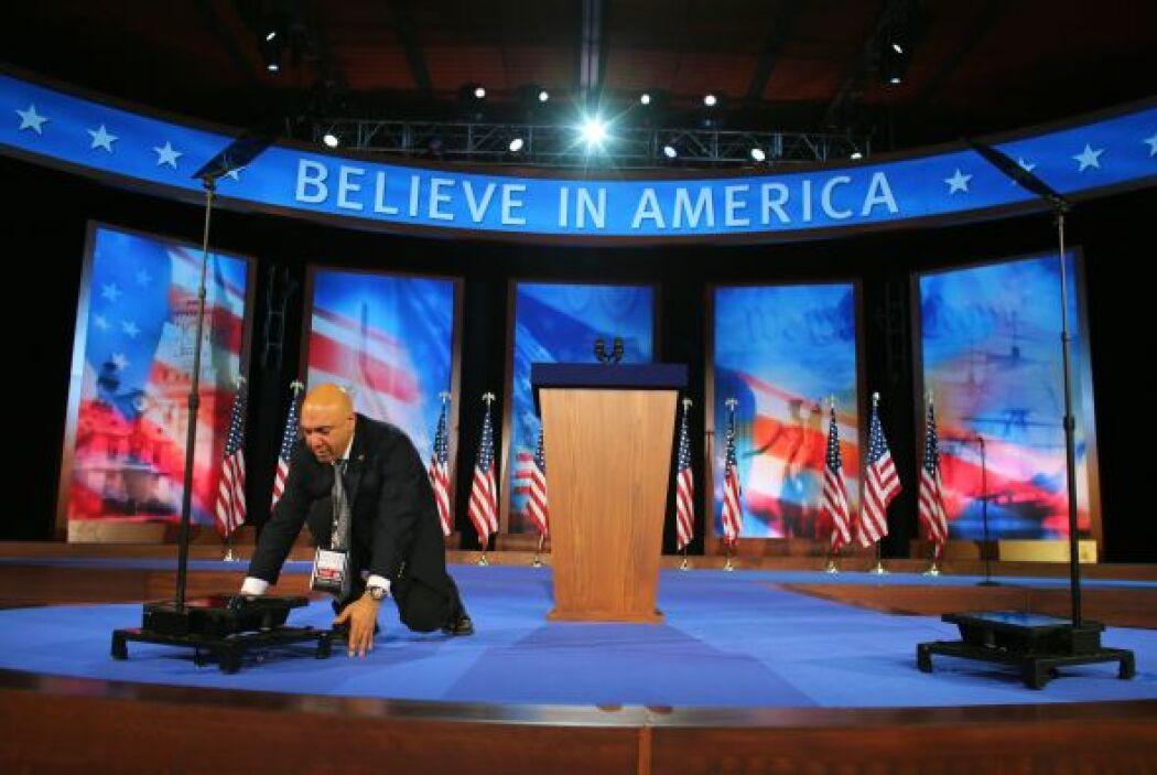 En   el Boston Convention   & Exhibition Center está todo listo para rec...