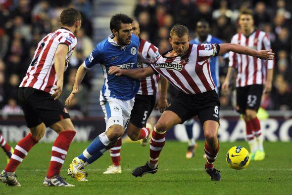 El Wigan volvió al triunfo y salió del fondo de la tabla.
