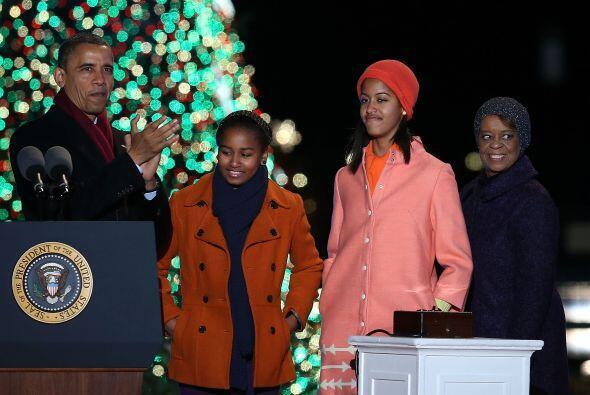Mientras el Presidente Obama marcó la cuenta regresiva, su esposa...