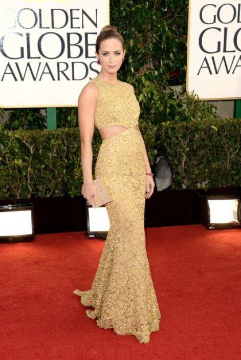Una de las que más brilló en esta red carpet fue Emily Blunt. El estilo...