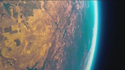 Sonda estratosférica muestra impresionantes imágenes de la tierra