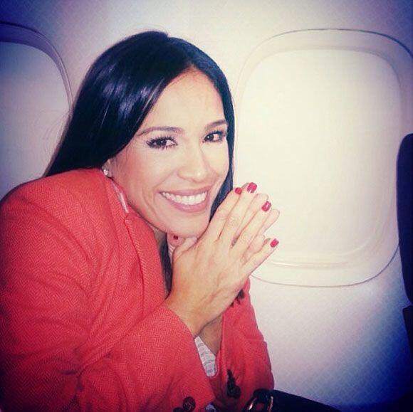 """""""¡Yeiii! ¡Ya en el avión rumbo a New York!"""", escribió Karla. (Noviembre..."""