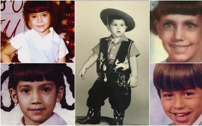 Mira sus fotos de cuando eran pequeños y adivina quiénes son estos famosos