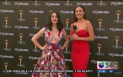 Wendy González desde la alfombra roja de los Premios TV y Novelas