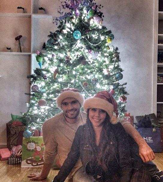 Esta bella foto de ambos fue tomada la pasada Navidad.