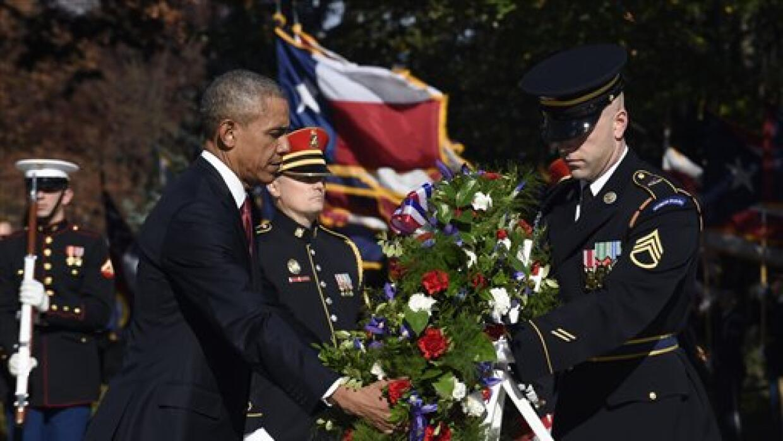 Barack Obama en el homenaje a los veteranos.