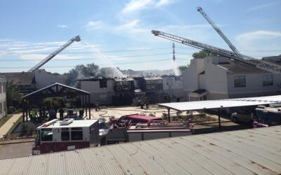 Incendio en Fox Run Apartments