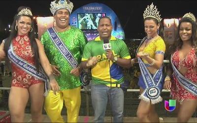 Tony Dandrades ya está en Brasil y sintió la samba en su cuerpo