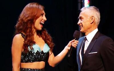 Prissila fue sorprendida en su entrevista por Jorge Ramos