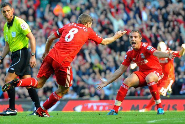 Los 'Reds' jugaron bien, pero el gol sólo llegó cuando 'Stevie G' anotó...