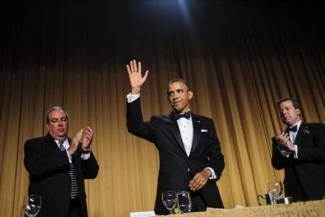 El banquete del sábado por la noche, no lejos de la Casa Blanca, atrajo...
