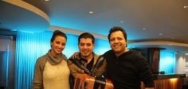 Noel Torres con Omar y Argelia
