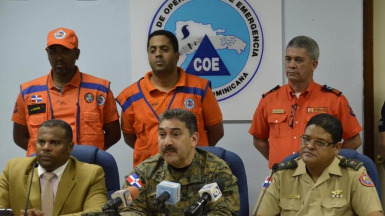 Autoridades de República Dominicana en conferencia de prensa