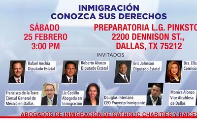 """Foro de inmigración """"Conozca Sus Derechos"""""""