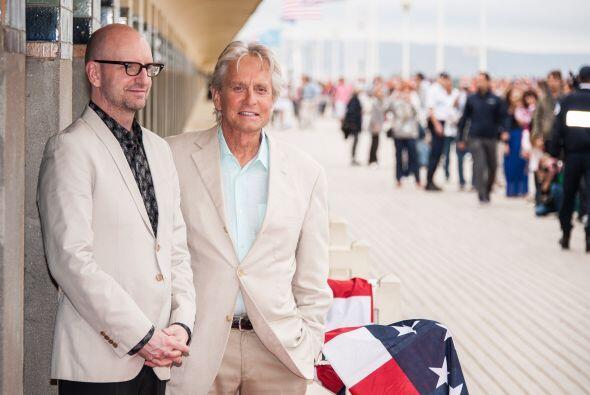 Michael estuvo acompañado del director Steven Soderbergh. Mira aq...