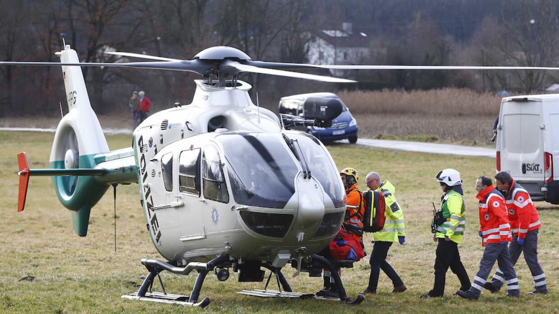 Helicópteros con rescatistas fueron enviados al lugar del accidente