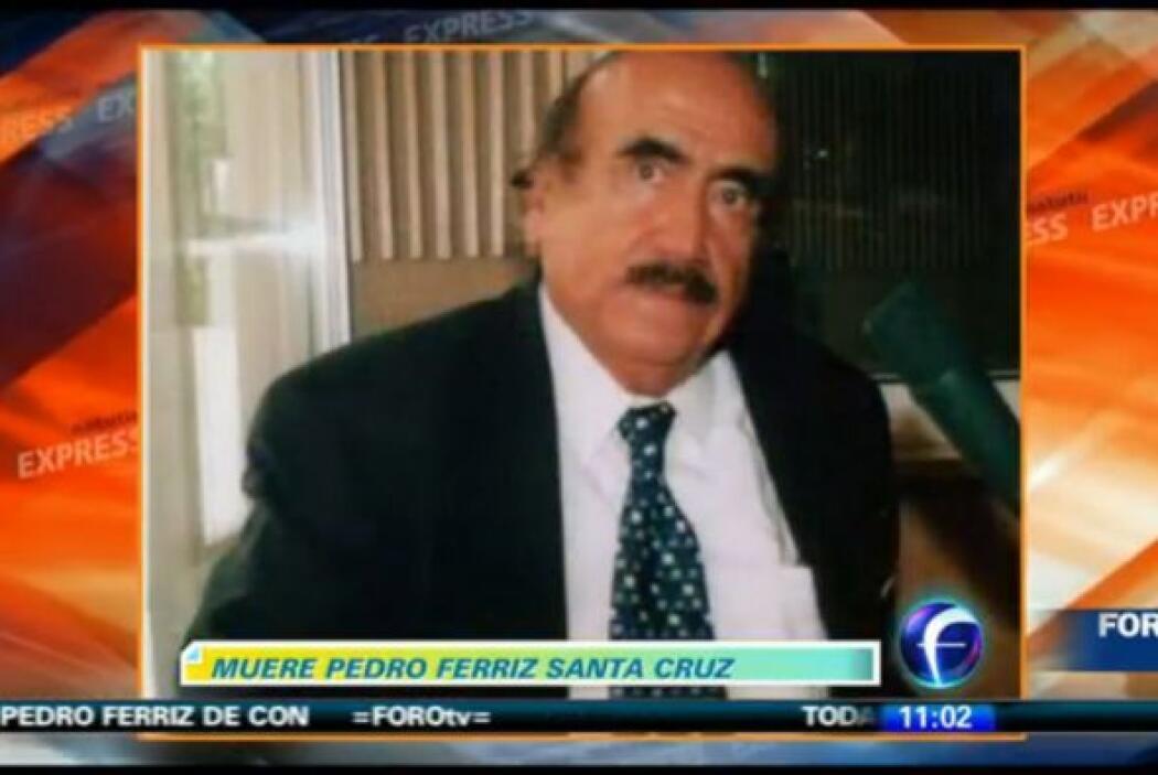Pedro Ferriz Santa Cruz, uno de los periodistas más renombrados de Méxic...