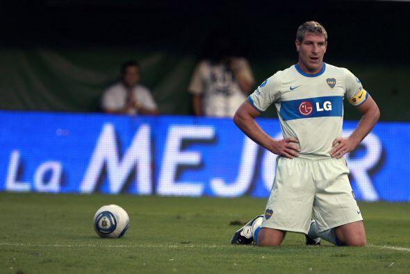 Martín Palermo anduvo errático en el partido y en el final...