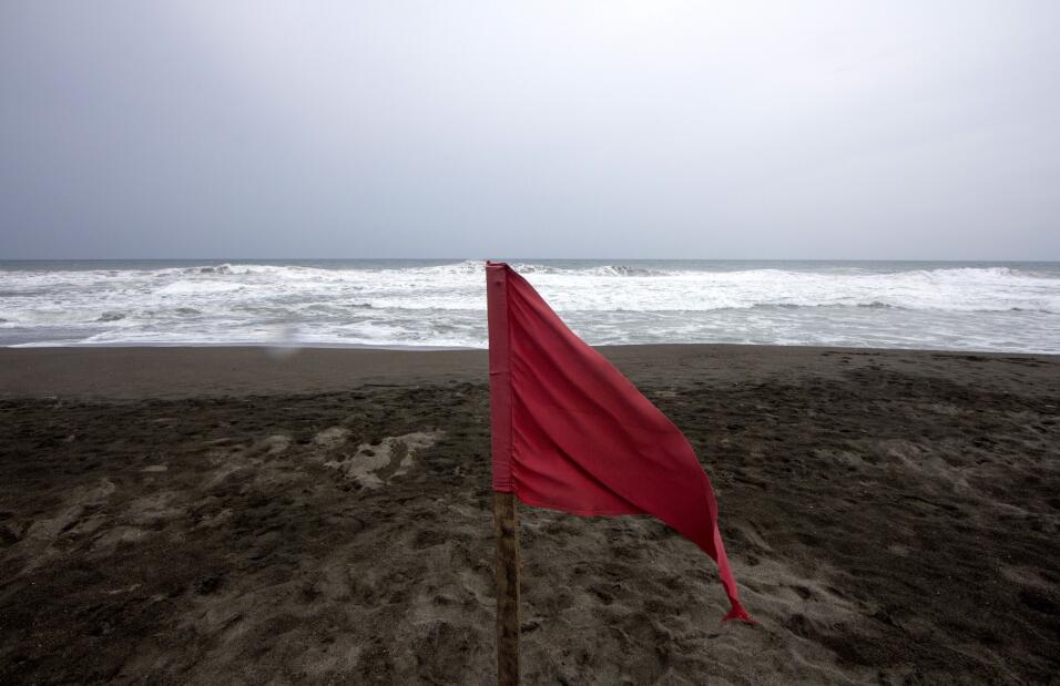 En Colima las playas están cerradas al público.