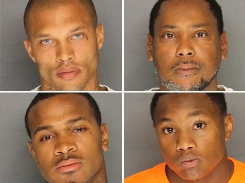 Las fotos de los otros tres detenidos, también colgadas en el Facebook d...