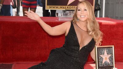 Mariah Carey recibió su estrella y mandó un saludo a El Gordo y La Flaca