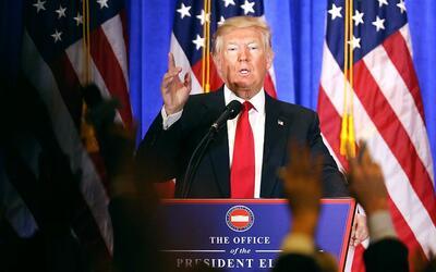 """Donald Trump: """"No quiero esperar para construir el muro"""""""