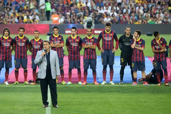 El Barcelona hizo su presentación oficial para la temporada 2013-...
