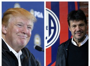 Donald Trump y Marcelo Tinelli