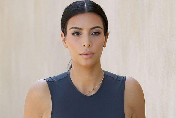 Esta vez la Kardashian no nos regaló ni una sonrisita.