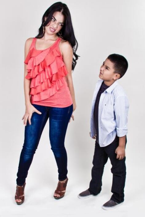 """Con su sobrino, Alexis, """"el dueño de su corazón""""."""