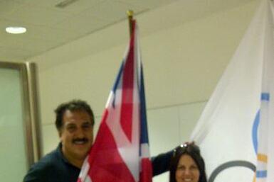 Con mi novia Roseli llegando a Londres. Ella es de Brasil y tenia q ir p...