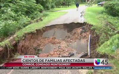 Severos daños en Conroe debido a las tormentas