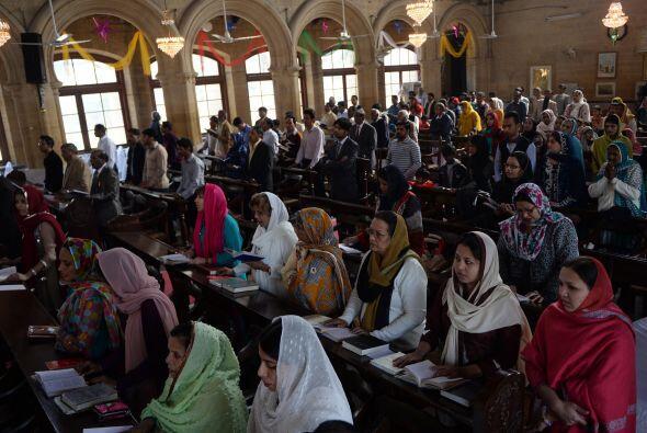 La Catedral de San Patricio en Karachi, Pakistán, es otro de los recinto...