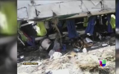 Choque de autobús dejó 9 personas muertas en Bolivia