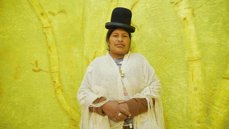 Todas las cholitas son luchadoras: mujer albañil