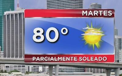 Día mayormente soleado, pero aumentan las posibilidades de lluvia este m...