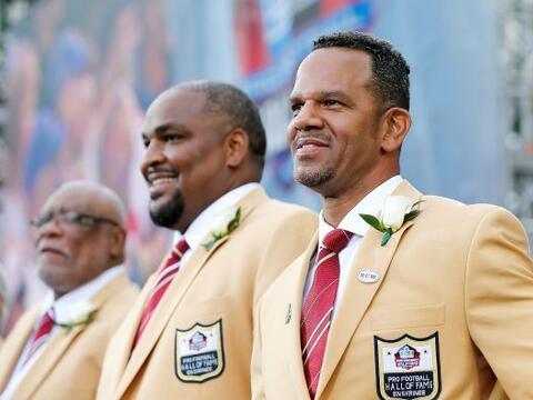 Los 7 nuevos integrantes del Salón de la Fama de la NFL en Canton, Ohio...