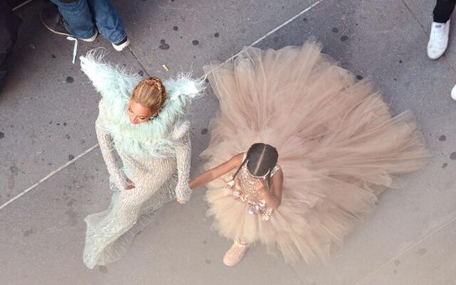 Beyonce & Blue Ivy en la alfombra roja