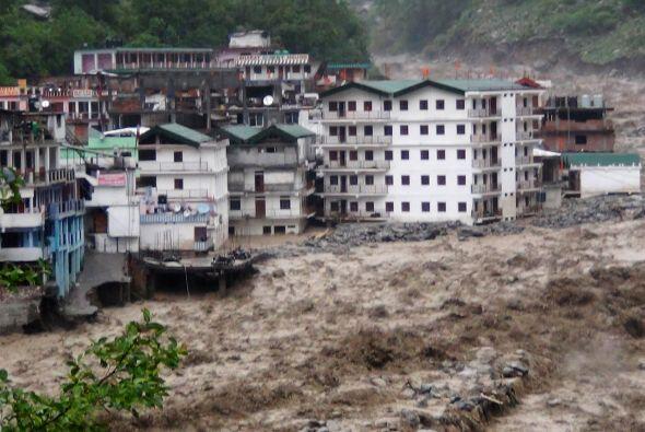 En el estado norteño de Uttarakhand, el más afectado por las precipitaci...