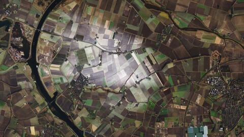El terreno nevado en una zona rural de los Países Bajos.