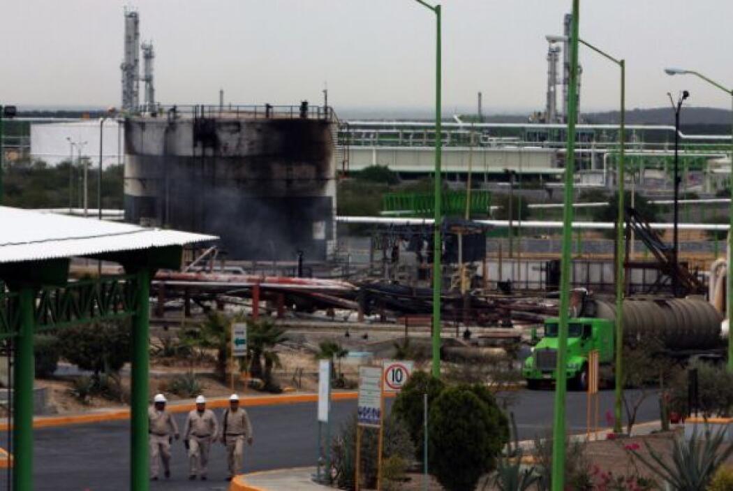 17 de junio de 2009. Un estallido en Cunduacán en Villahermosa, Tabasco,...