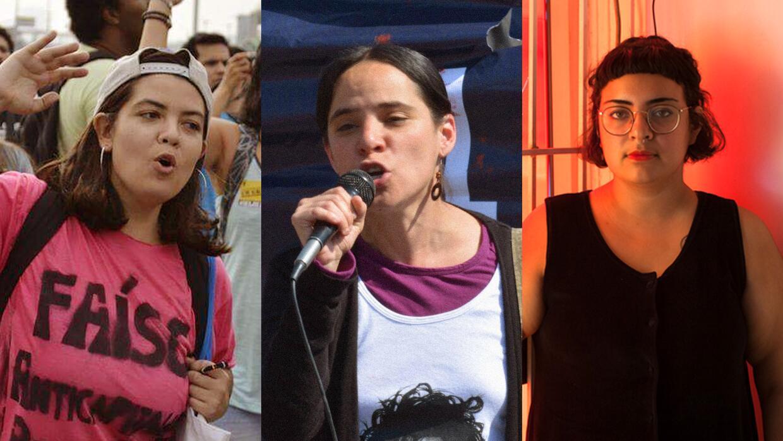 Estas hispanas -de izquierda a derecha: Tatiana Cozzarelli, Ximena Goldm...