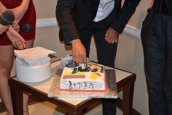 Un pastel espectacular que encantó al Festejado pues le recuerda...