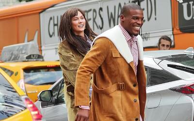 Cam Newton y Karlie Kloss en sesión fotográfica de otoño para Vogue