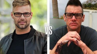 Jim Carrey apareció usando el mismo corte de cabello y lentes que Ricky...